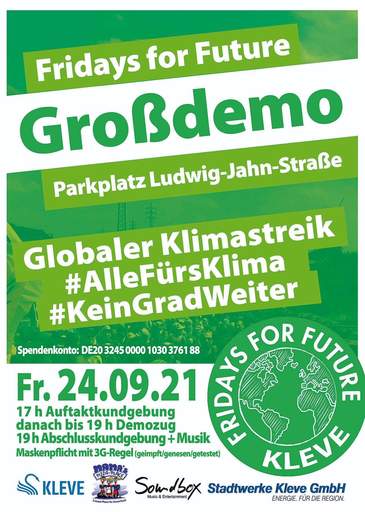 Plakat Großdemo